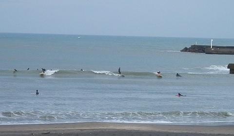 今日の太東の波の様子